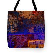 Electric Blue Patterns Tote Bag