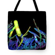 Electric Fractal Garden Tote Bag