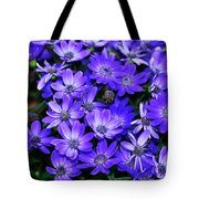 Electric Indigo Garden Tote Bag