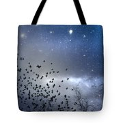 The Night Was Electrically Charged Tote Bag