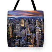 Electric Nyc Tote Bag by Kelley King