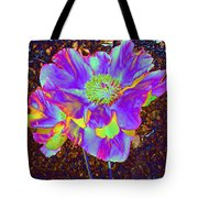 Electric Peony Tote Bag