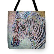 Electric Zebra Tote Bag