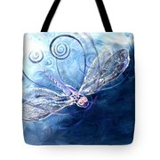Electrified Dragonfly Tote Bag