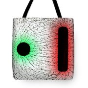 Electrostatic Field Lines Unlike Charges Tote Bag