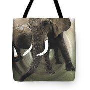 Elephant Awake Tote Bag
