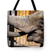Elephant Feeding Time At The Zoo Tote Bag