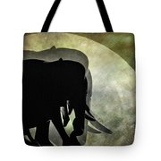 Elephants On Moonlight Walk 2 Tote Bag