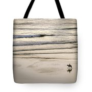 Elevated View Of A Horseback Rider Tote Bag