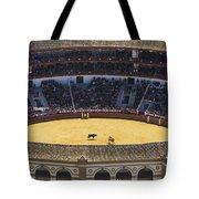 Elevated View Of Bullring Tote Bag by Axiom Photographic