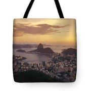 Elevated View Of Rio De Janeiro Tote Bag
