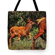 Elk Fawn Tote Bag