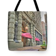 Ellicott Square Building And Hsbc Tote Bag