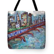 Ellis And Wall Street Tote Bag