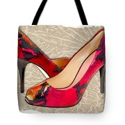 Embossed Leather Reptile Pumps  Tote Bag