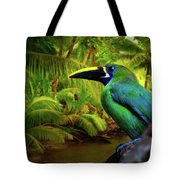 Emerald And Blue Toucan  Tote Bag