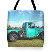 Emerald Green 1936 Ford Pickup Tote Bag