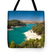 Emerald Lake. El Chorro. Spain Tote Bag