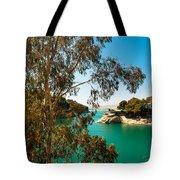 Emerald Lake With Duke House I. El Chorro. Spain Tote Bag