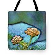 Emerald Stamped Floret Tote Bag