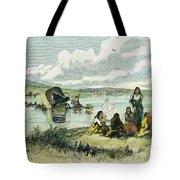 Emigrants In Nebraska, 1859 Tote Bag by Granger