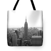 Empire State Building In Black And White Tote Bag