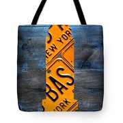 Empire State Building Nyc License Plate Art Tote Bag