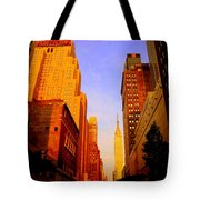 Empire State Building Sunset Tote Bag