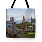 Empire State Plaza And Cathedral Of The Immaculate Conception Tote Bag