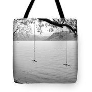 Empty Swings In The Rain Tote Bag