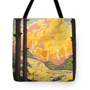 En Tarentaise - Vintage French Travel Tote Bag