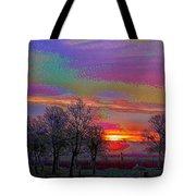 Enameled Sunrise Of Northern California Tote Bag