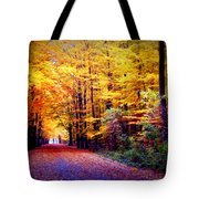 Enchanted Fall Forest Tote Bag by Carol Groenen