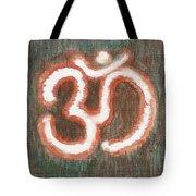 Energy Symbol Om Aum Tote Bag
