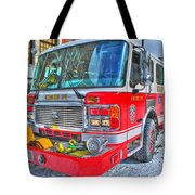 Engine 34 Readied Up Tote Bag