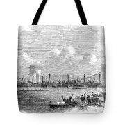 England: Boat Race, 1858 Tote Bag