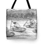 England: Coracle Race, 1881 Tote Bag