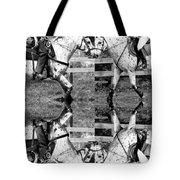 English And Western Collide Tote Bag