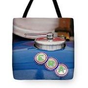 English Racing Automobile Hood Emblem Tote Bag