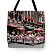 Enjoying The Grand Place Tote Bag