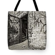 Enter And Proceed With Caution Tote Bag