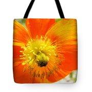 Enter The Orange Poppy Tote Bag