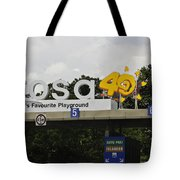 Entrance Gate For Sentosa Island In Singapore Tote Bag