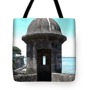 Entrance To Sentry Tower Castillo San Felipe Del Morro Fortress San Juan Puerto Rico Poster Edges Tote Bag by Shawn O'Brien
