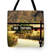 Entrance To The High Chaparral Ranch Tote Bag