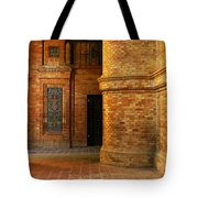 Entry To The Spanish Pavillion In Sevilla Spain Tote Bag