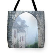Entryway To St Cirq In The Fog Tote Bag