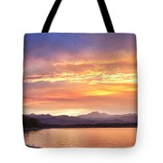 Epic August Colorado Sunset  Tote Bag