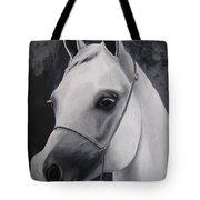 Equestrian Silver Tote Bag