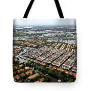 Erial View Of Flood Waters Affecting An Tote Bag